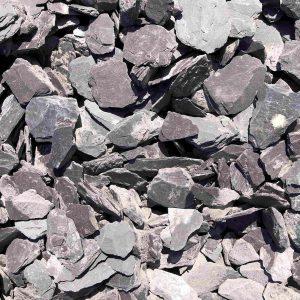 A pile of grey slate